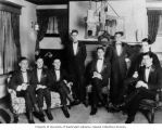 Jewish fraternity members in tuxedos, Seattle, Washington, ca. 1920s