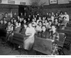 Pacific School 8th grade class at Christmas, 1114 E. Jefferson St., Seattle, December 1917