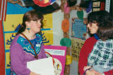 Teacher Susan Stombaugh (left) and Dr. Kaila Sheckter at Seattle Jewish Primary School recruitment...