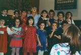 Children performing at Seattle Jewish Primary School program, Seattle, Washington, October 18, 1992