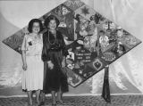 Sylvia Siegel (left) and Goldie Kweller, probably at Women's League for Conservative Judaism...