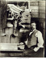 Photo of Louis Shubert, head sculptor at Gladding-McBean, Auburn 1922-1932