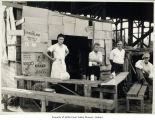 Photo, makeshift restaurant, Auburn, ca. 1931