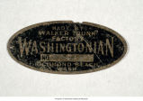 Nameplate trunk label from the Walker Trunk Factory, Richmond Beach, ca. 1924