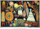 Brochure promoting Hitt's Fireworks
