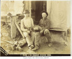 Photo of Fred Matthiesen &  F.F. Coffin  with largest nugget found in Yukon, ca. 1888