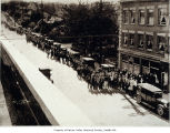 Photo of a relief line, Columbia City, 1932