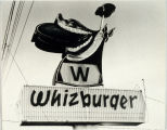 Whizburger sandwich shop sign