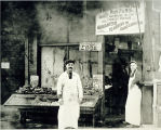 Photo of Sephardic fish market, Seattle ca. 1918