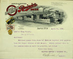 Correspondence on Seattle Brewing and Malting Company letterhead re liquor license, 1909
