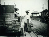 Photo of a female passenger returning from Seattle at the Tukwila Interurban Station