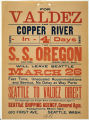Poster for the S.S. OREGON, Seattle to Valdez, 1901