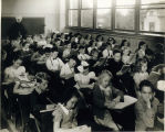 Photo of class room at St. Catherine School, 1943