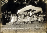 Photo of games held at Japanese community picnic, ca. 1918