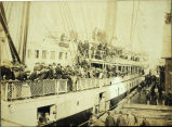 Photo of volunteers returning from Spanish American War, Seattle 1899