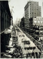 Photo of U.S. Navy parade in downtown Seattle, 1908