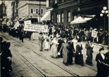 Photo of voters' march, Seattle, ca. 1911