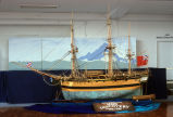 Large scale model of George Vancouver's HMS DISCOVERY