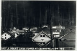 Photo of Cedar Falls flooded during dam construstion 1915