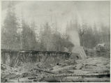 Photo of house on flooded Snoqualmie river, 1892