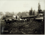 Photo of  construction  of Cedar River pipeline 1900