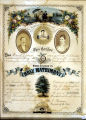 Marriage certificate, 1877