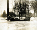 Photo of mail delivery in Kent during Green River flood, 1906