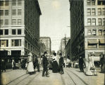 Photo, downtown Seattle, 1909