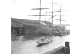 Three masted sailing vessel MARIOU CHILCOTT at Seattle dock, Washington, March 30, 1899