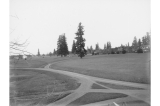 Parade ground and buildings at Fort Vancouver, November 1900