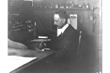 H. Ambrose Kiehl in engineer's office at Fort Lawton, Washington, 1905