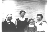 H. Ambrose Kiehl and family, probably at Fort Lawton, Washington, 1899