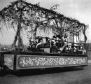 Japanese float decorated with Wisteria, Golden Potlatch parade, Seattle, July 17-22, 1911