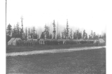 Cadets in formation at Fort Lawton, Washington, May 8, 1900