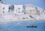 Rowboat in front of Korykos Castle