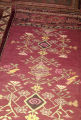 Kilim with floral designs and small birds