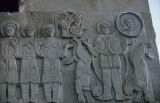 Bas relief of Daniel and the lions