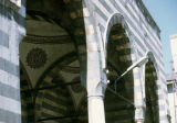 Arches and interior of a colonnade at the Nebi Cami
