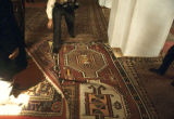 Carpets on floor of mosque