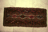 Small pile weave rug with two rows of dyrnak guls separated by a single row of hooked ashik guls