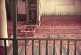 Interior of a mosque with rugs