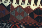 Edge of a kilim with fetters motif
