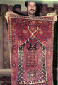 Pile weave prayer rug with kaikalaks, stars and burdock motifs