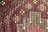 Close up of a Gaziantep weft float brocade bag