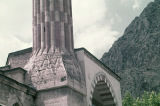Base of a minaret at the Sultan II. Bayezid Mosque in Amasya