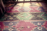 Kilim with stripes and medallions