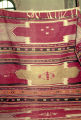 Kilim with medallions and weft float brocade s-motifs and burdock motifs