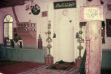 Interior of mosque with mihrab and minbar