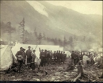 Front Street, Sheep Camp, Chilkoot Trail, Alaska, 1897.