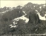 Cascade mountain peaks in the vicinity of Monte Cristo, Washington, ca. 1891.
